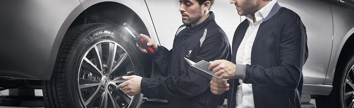 Peugeot tyre maintenance