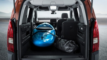 Peugeot Rifter Folded Seats with Kayak