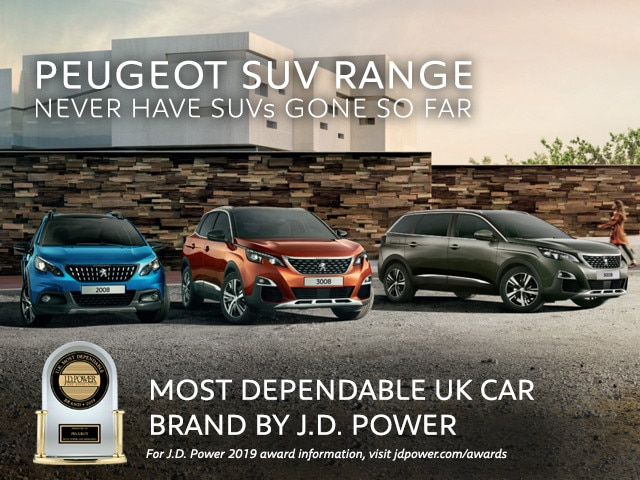 J D Power Awards - SUV range - PEUGEOT