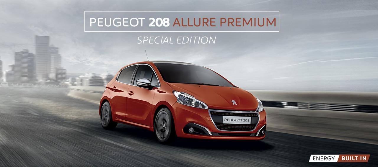 Peugeot 208 Allure Premium homepage hero carousel v1