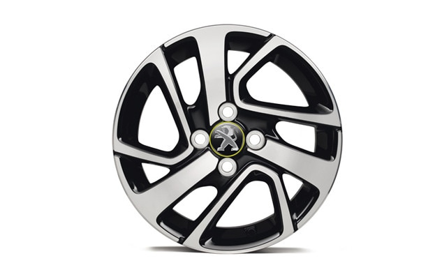 Peugeot 108 Green Cap Alloy Wheels