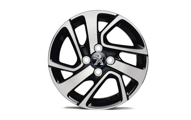 Peugeot 108 Blue cap alloy wheels
