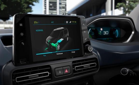 NEW PEUGEOT e-RIFTER - large 3D touchscreen