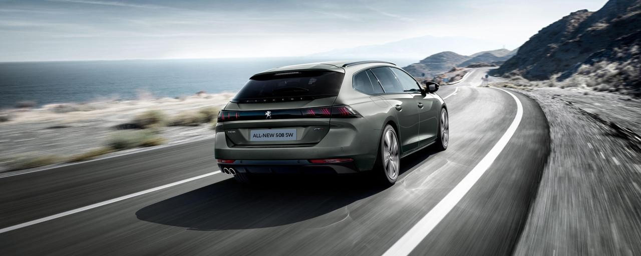 All-new Peugeot 508 SW Rear View