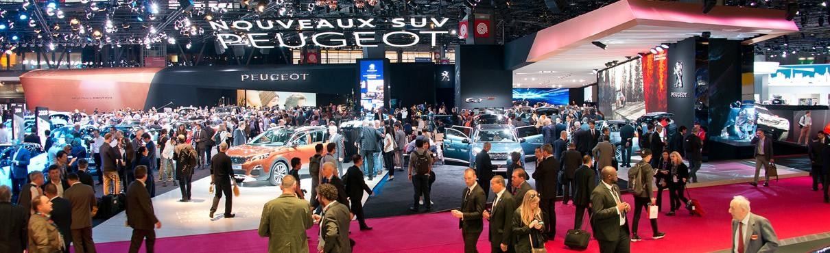 Peugeot at the paris motor show