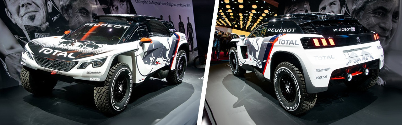 Peugeot 3008 DKR at the paris motor show