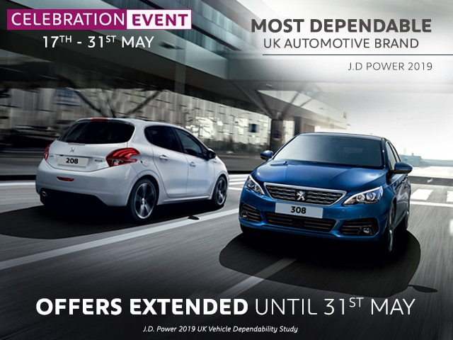 2c5eb9006 208   308 - Celebration Offers by Peugeot UK