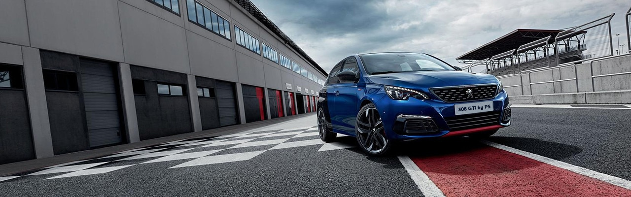 Peugeot 308 GTi by PS front view on the track
