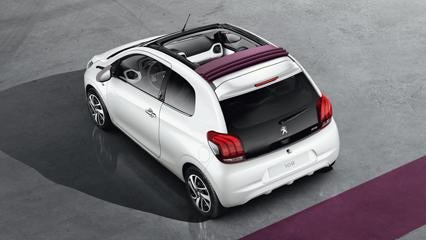 Peugeot 108 Top! with purple roof off