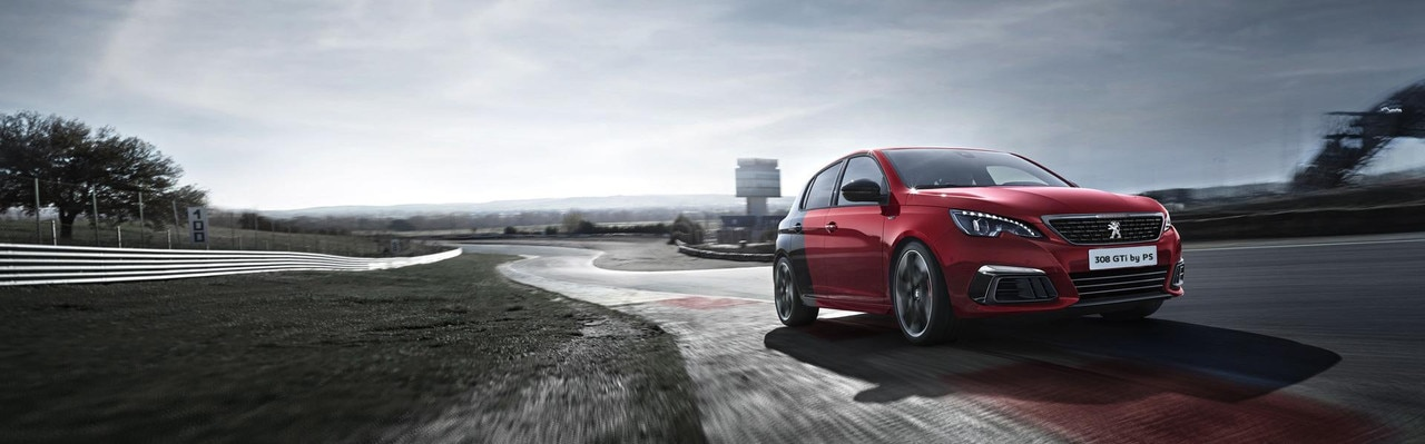 Peugeot 308 GTi by PS 2017 red color front view