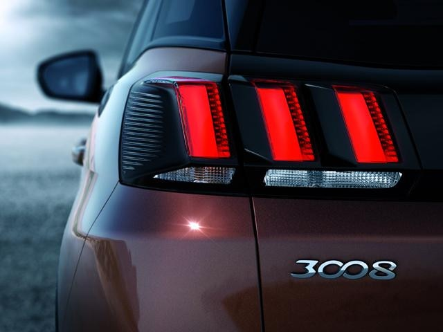 Peugeot all-new 3008 SUV distinctive design rear lights