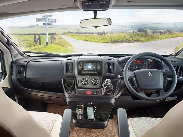Peugeot motorhome dashboard