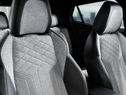 ALL-NEW PEUGEOT e-2008 electric SUV: exclusive Alcantara© Gréval Grey GT seats