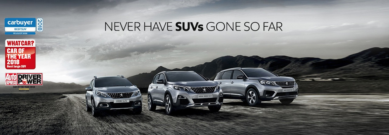 Peugeot SUV Event Landing Page