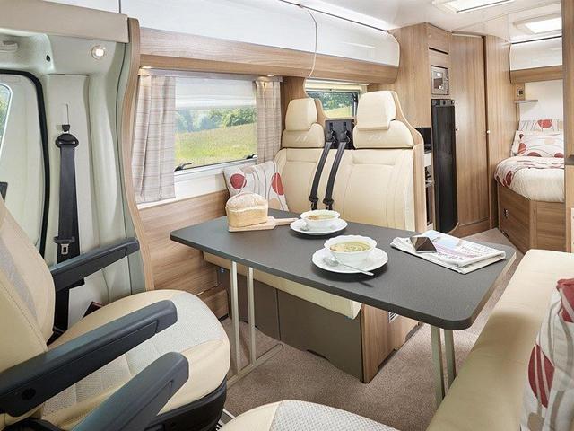 Peugeot motorhome living space