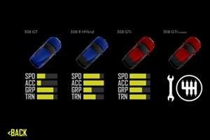 peugeot pocket racing car selector