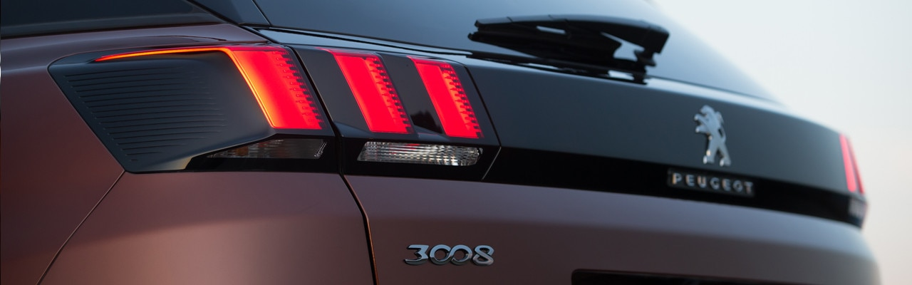 Peugeot 3008 SUV rear lights