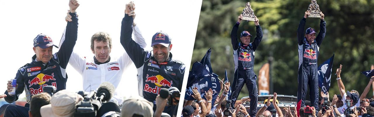 Peugeot winning team of the 2016 Dakar