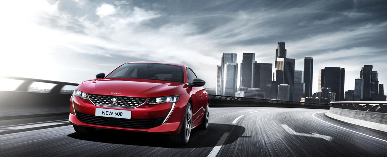 Peugeot 508 Fastback on the road