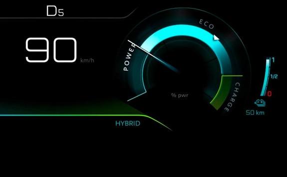 PEUGEOT SUV 3008 HYBRID4 - Hybrid mode