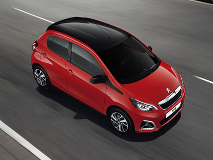 Red Peugeot 108 Hatchback