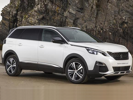 Peugeot 5008 SUV on beach