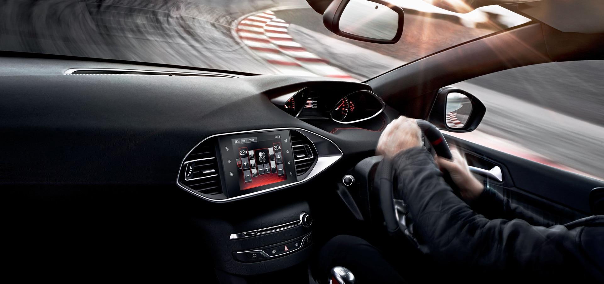 Interior of Peugeot 308 GTi