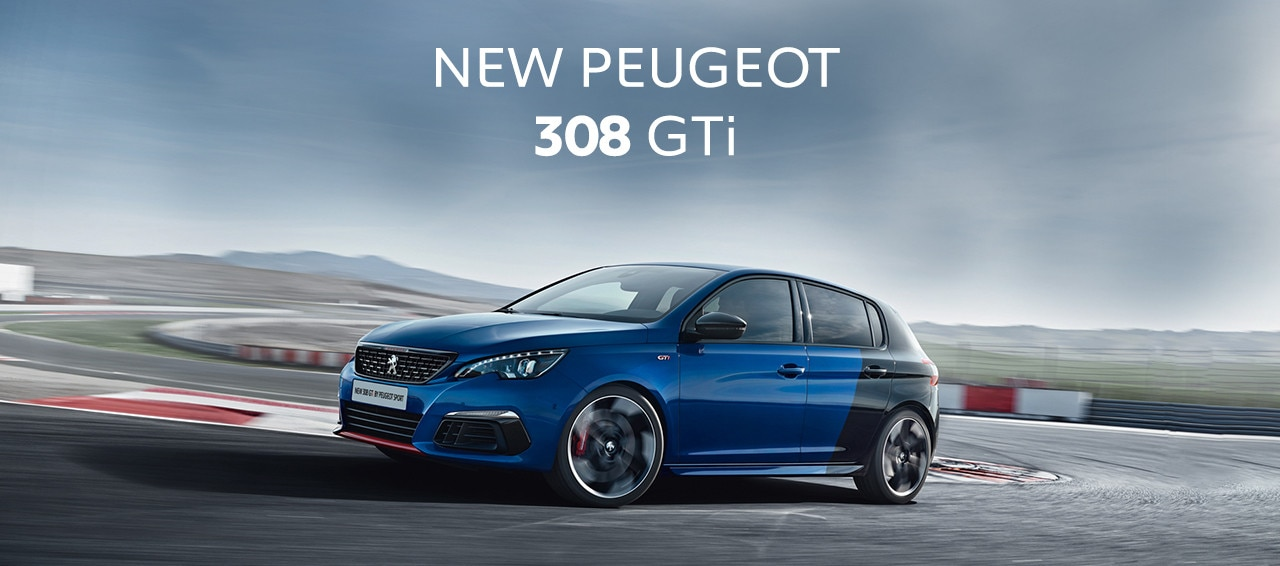 Peugeot new 308 GTi homepage header