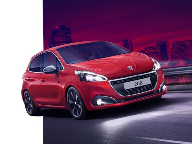 208 Tech Edition - Red colour - front