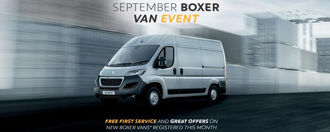 Peugeot Boxer Van - September Event