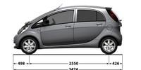 Peugeot iOn dimensions