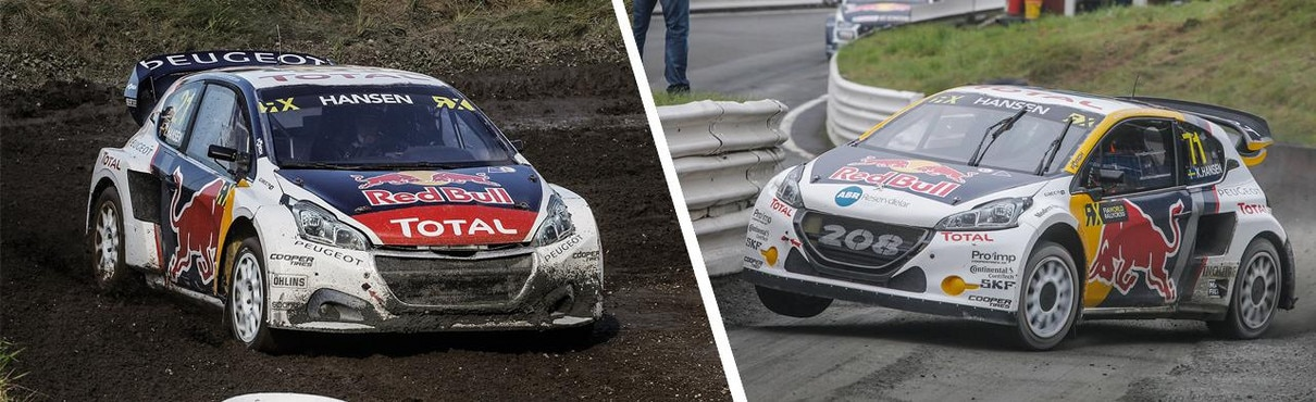 Peugeot 208 WRXs on track