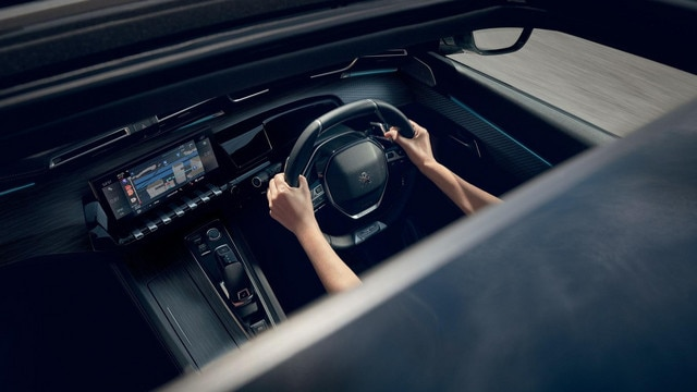 "All-new PEUGEOT 508 SW, with 10"" capacitive colour touchscreen, Mirror Screen® function and 3D Connected Navigation with voice recognition."