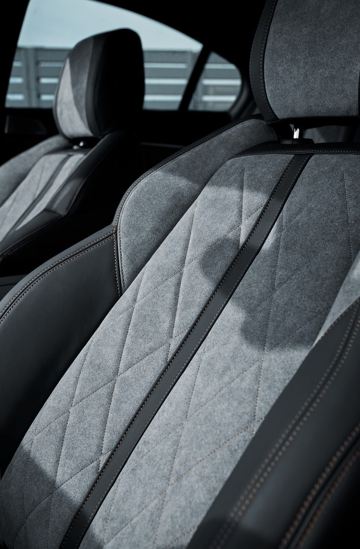 All-new PEUGEOT 508 SW HYBRID - exclusive Alcantara® Gréval grey trim