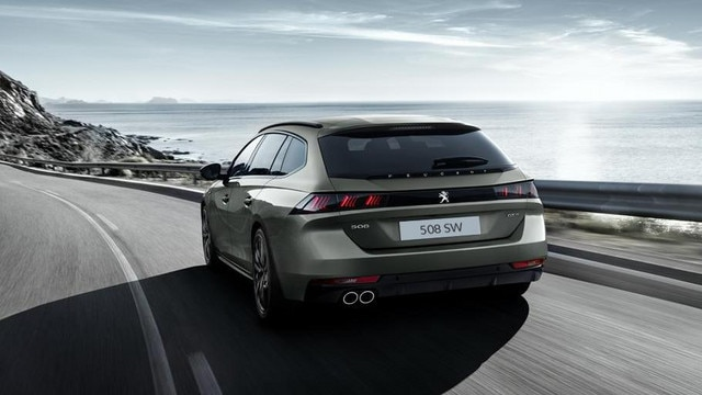 Peugeot 508 SW First Edition modern premium estate rear view