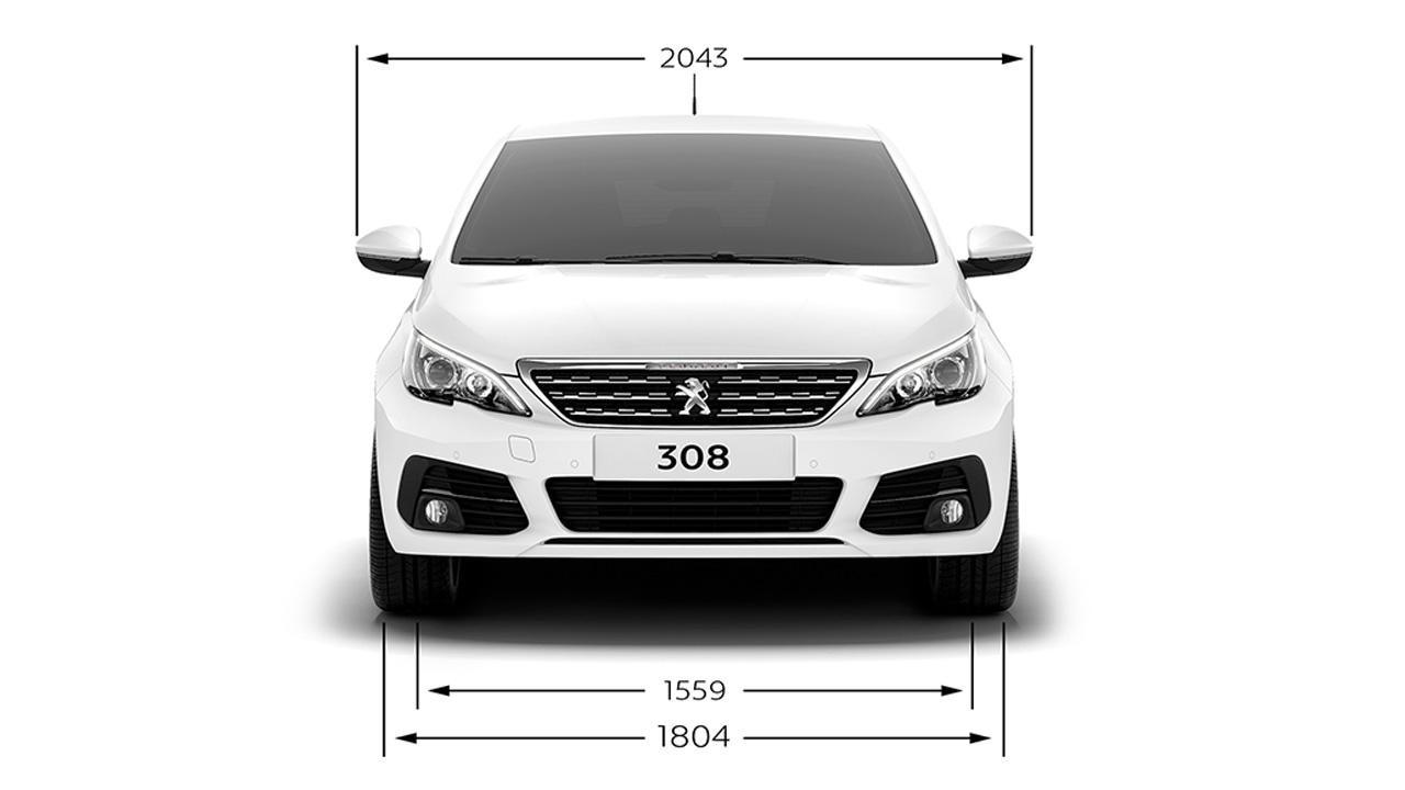 Peugeot 308 dimensions