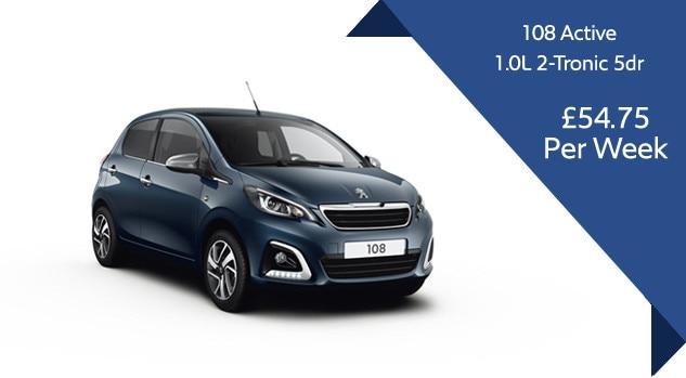 Peugeot 108 Semi Automatic Motability Offer