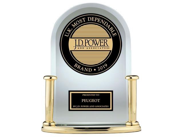J D Power award - Peugeot awarded as Most Dependable Volume Brand 2019