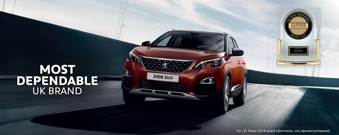 Peugeot 3008 SUV - J D Power award