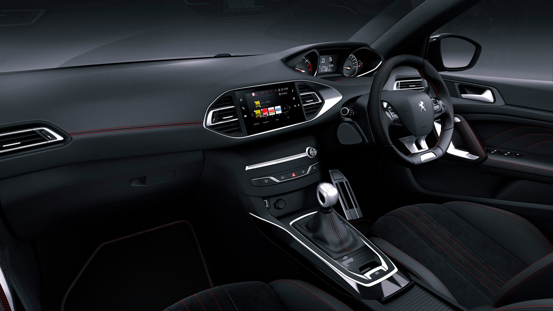 New peugeot 308 discover the compact 5 door by peugeot for Interieur 306