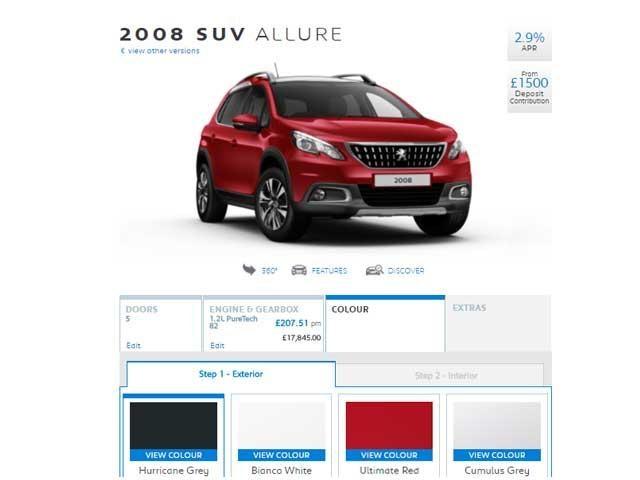 Peugeot eCommerce Configurator