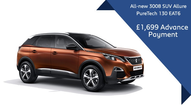new 3008 suv automatic offer motability