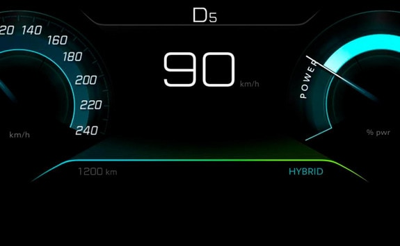 PEUGEOT 3008 SUV : HYBRID mode