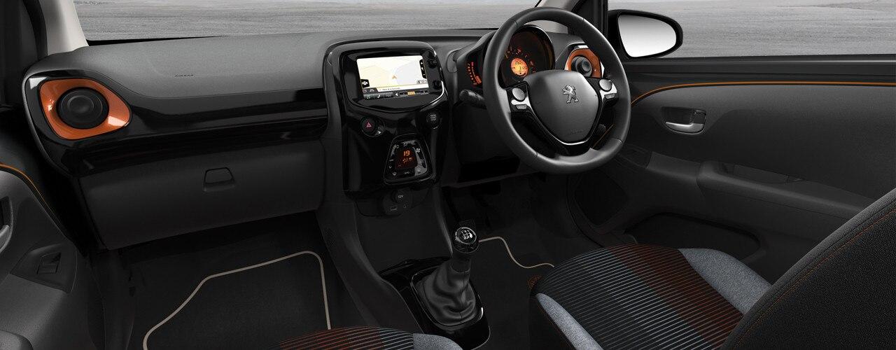 Peugeot 108 Roland Garros black interior