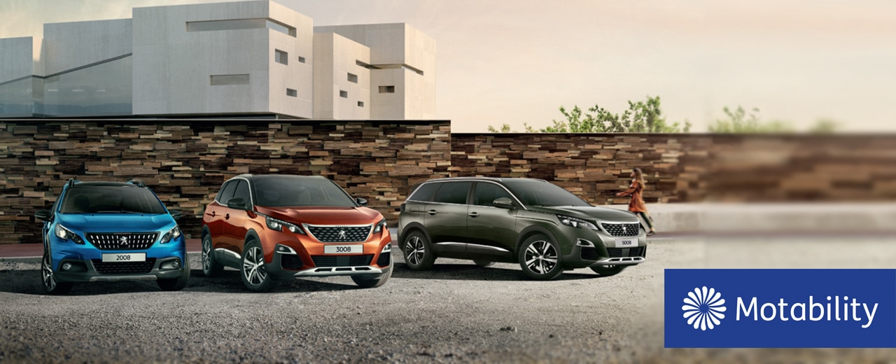 Peugeot SUV Range - Available on Motability scheme