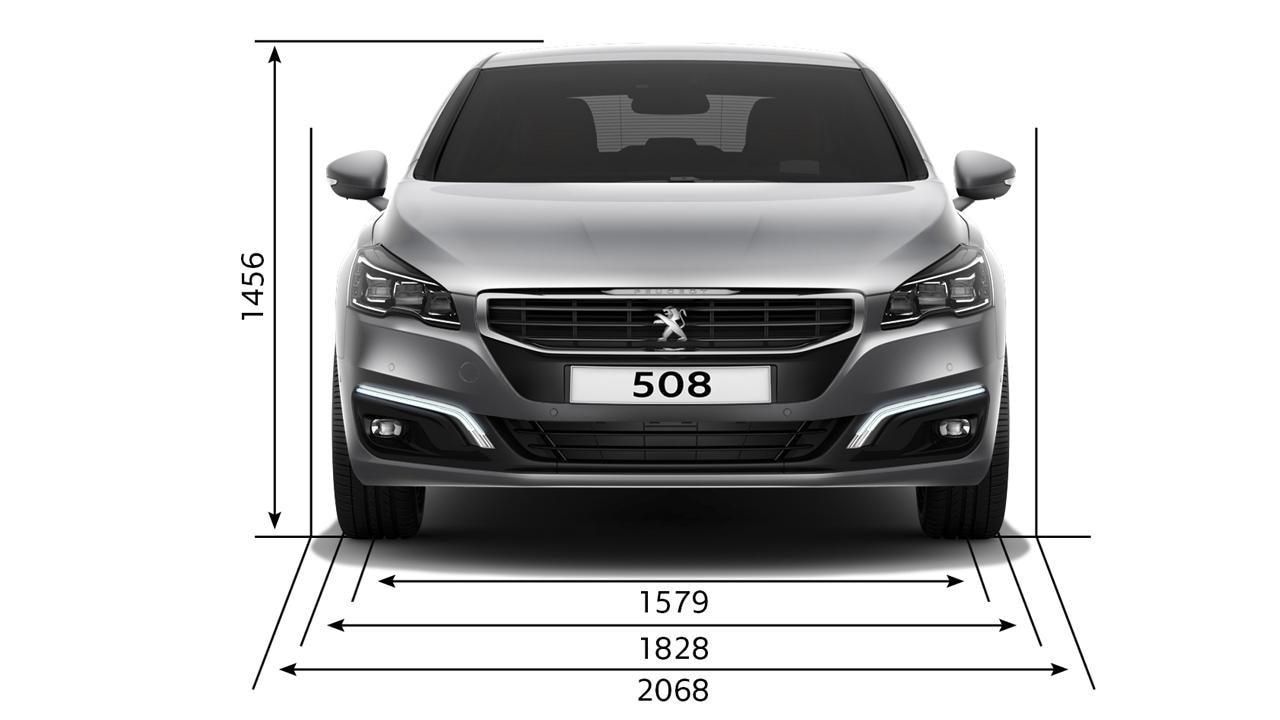 Peugeot 508 Saloon dimensions