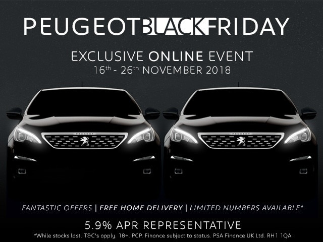 Peugeot Black Friday Event