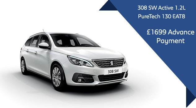 Peugeot 308 SW Automatic Motability Offer