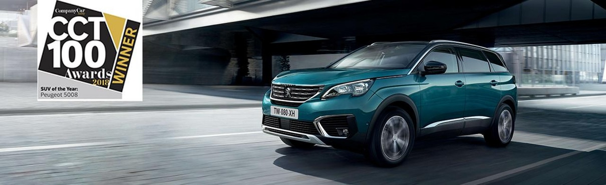 All-new 5008 SUV at CCT100 awards