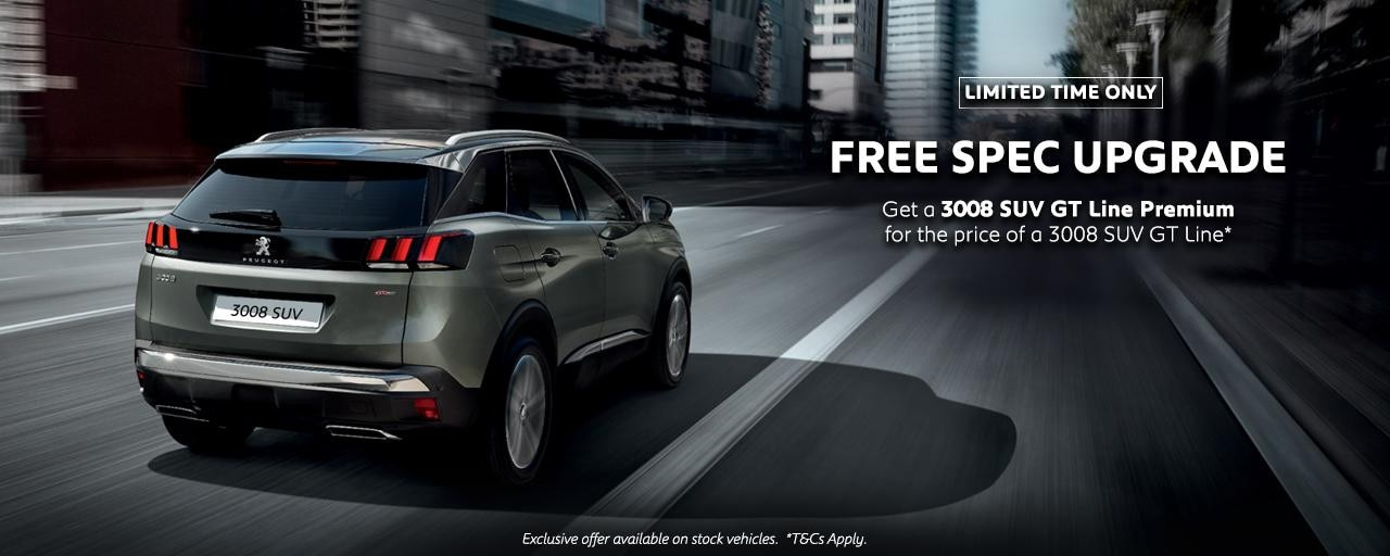 Peugeot 3008 SUV GT Line Premium - Upgrade offer
